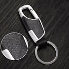 Men Keychain Leather Metal Key Ring Creative Gift Car Accessories Zinc Alloy