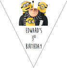 personalised card birthday party bunting 10 flags 3m DESPICABLE ME 3 MINIONS #1