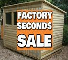 "10x8 ""FACTORY SECOND"" Pent Garden Shed Storage Hut Treated Tanalised wooden"
