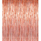 2m*1m Shimmer Fringe Curtain Foil Tinsel Wedding Birthday Party Room Door Decor