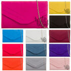 SUEDE ENVELOPE BRIDAL PARTY WEDDING PROM EVENING HOLIDAY CLUTCH HANDBAG
