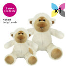 NAKED LUCY LAMB CUDDLY SOFT TOY TEDDY BEAR WITHOUT CLOTHING GIFT PRESENT