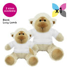 1 Blank Lucy Lamb Sheep Soft Toy Plain White T-Shirt Transfer Sublimation Gifts