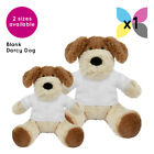 BLANK DARCY DOG SOFT TOY TEDDY BEAR WITH SUBLIMATION PRINTABLE T-SHIRT