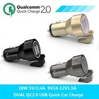 Quick Charge 2.0 2 Ports USB Car Charger With Seat Belt Cutter Safe For Mobile