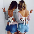 Fashion Women Summer Tops Loose Tee Long Sleeve T Shirt Casual Blouse Tops New