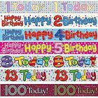 BIRTHDAY BANNER 1st 2nd 3rd 4th 5th 8th 9th 13th 16th 18th 21st 30th LOTS MORE