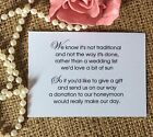 Wedding Gift Money Poem Small Cards Asking For Money Cash For Invitations