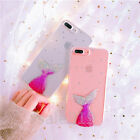 Bling Mermaid Tail Glitter Soft TPU phone Case back cover for iphone 6 6S 7 Plus