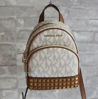New Michael Kors Abbey XS Studded Mini Backpack Crossbody NWT