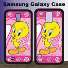 Pink Tweety Bird Funny Cartoon New Cover Samsung Galaxy Case