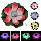 Solar Power RGB LED Floating Night Light Lotus Flower Decorate Garden Pool Pond
