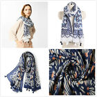"Floral Waves Print Colorful Soft Women's Long Scarves Wraps Shawl Scarf 71""*39"""