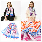 "Floral Art Print Colorful Soft Women's Long Scarves Wraps Shawl Scarf 71""*39"""