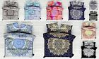 Indian Cotton Bed Sheet Hippie Bed Cover Ombre Mandala Queen Size Bedding Set