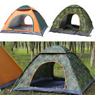 3/4 People Waterproof Outdoor Foldable Pop Up Tent Camping Hiking Family Travel