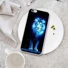 Cool Blue Light Lion Printed Phone Case for iPhone 7 Samsung S8 S7 Huawei Xiaomi