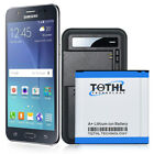 TQTHL 3300mAh Extended Slim Battery or Dock Charger For Samsung Galaxy J3 2017