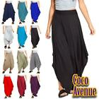 New Ladies Plain Harem Baggy Ali Baba Lagenlook Pants Trousers Hareem Leggings