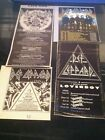 DEF LEPPARD / TESLA - UK TOUR DATES 1987 - original advert / fridge magnet