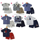 New Baby Boys Tuxedo Vest, Polo Shirt, Pants outfit Size 0 3