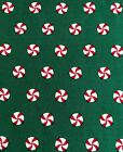 Christmas Candy on Green Cotton Quilt Fabric Sewing Crafts 1 3/8 yds