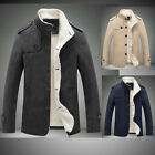 Mantel Fleece Herren Sakko Classic Winterjacke Business Jacke Wärmemantel