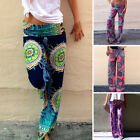 Womens Ladies Boho Baggy Pants Hippie Wide Leg Gypsy Yoga Long Palazzo Trousers