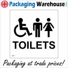 TOILETS SAFETY STICKER RIGID GE017 INDOOR OUTDOOR SIGN Buy 2 get 1 Free