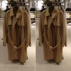ZARA NEW A/W 2017. CAMEL FAUX SUEDE TRENCH COAT JACKET. REF 4968/221.