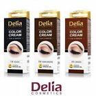 DELIA COSMETICS HENNA COLOR CREAM EYEBROW PROFESSIONAL TINT KIT SET BROWN&BLACK