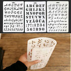 Alphabet letter stencil thin plastic letter and number paint art craft Gift TGH