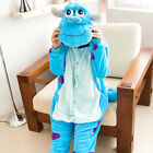 Women Adult Sleepwear Bodysuit Lovely Cartoon Animal Pajamas Hooded Cosplay Men