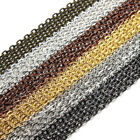 Wholesale 10M/lot Cable Metal 14K Gold Plated Link Chain Fit Necklace DIY 3*4mm