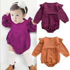 Newborn Baby Infant Girl Long Sleeve Romper Jumpsuit Long Sleeve Outfit Clothes