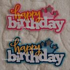 HAPPY BIRTHDAY Die Cut Title Choose Boy or Girl Scrapbook Paper Piece - SSFFDeb