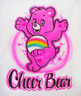 Airbrushed Personalized Care Bear Cheer Heart T-shirt Bodysuit Hoodie Pillowcase