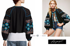 FREE PEOPLE SMALL Embroidered Swingy Cropped Jacket New Tags sg