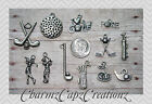 12pc Golf Charm Set Lot Collection/Jewelry,Scrapbook/ Sports,Bag,Ball,Flag,Love