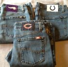 Womens Denim CHEERLEADER BOOT CUT BLUE JEANS Colts Vikings Bears NFL NWT