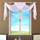 Hand Made White Colour Window Scarf Curtains for You Crushed Voile or Plain Mint