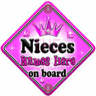 NEW ~ GEM JEWEL ~ NIECES ~ Personalised Baby on Board Car Window Sign