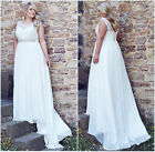 Lace White/Ivory Wedding Dresses Bridal Ball Gown Plus Size 20+22+24+26+28