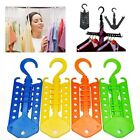 US Multifunction Space Saver Foldable Magic Hanger Rack Clothes Home Travel