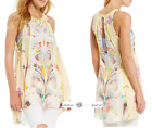 FREE PEOPLE  S+M+L  Dream Free Printed Top  IVORY New Tags tg