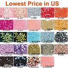 Внешний вид - 1000 pcs Half Round Flat Back Pearl Beads Multi Color Size 2mm 3mm 4mm 5mm 7mm