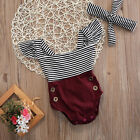 new born baby cute - US Newborn Kids Baby Girl Cute Romper Jumpsuit Bodysuit+Headband Clothes Outfits