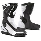 FORMA FRECCIA WHITE BLACK MOTORCYCLE MOTORBIKE SPORTS BIKE RACE RACING BOOTS