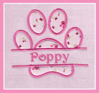 PERSONALISED EMBROIDERED DOG PUPPY CAT KITTEN FLEECE BLANKET PET NAME FLORAL
