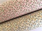 TILLY Tiny Pink Blue Floral Dot Pure Cotton Fabric Fat Quarter Half Metre